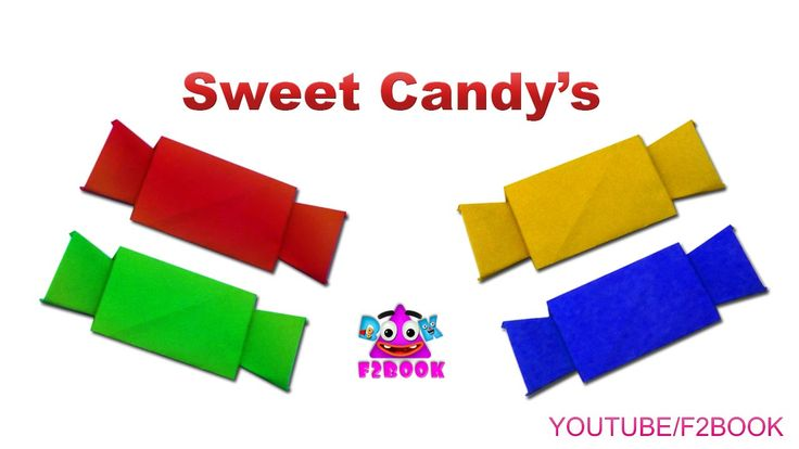 Sugar Candy : Paper Folding Craft for Childrens || origami for kids || F...