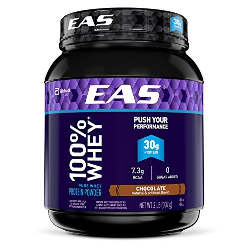 EAS 100% Pure Whey Protein Powder Chocolate 2lb (Packaging May Vary)