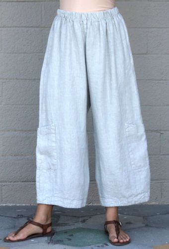 BRYN WALKER Flax HEAVY-weight Linen CASBAH PANT Pocket Pants