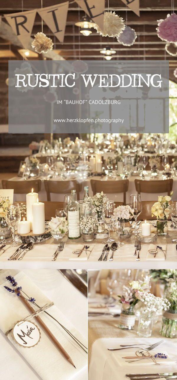 Rustic Wedding Inspiration: Hochzeitsdeko für eure Scheunenhochzeit
