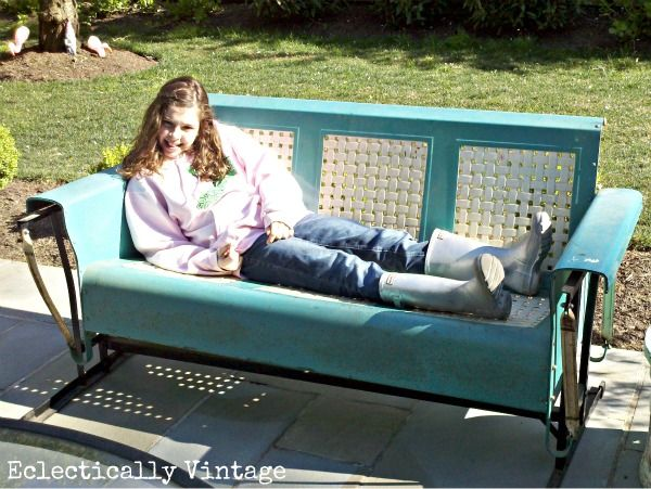 Metal Glider Sofa Outdoor Foter