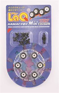 LaQ Hamacron Mini Parts Kit- Små däck och axlar - Små däck och tillhörande axlar. Används förutom som däck på fordon också som ögon och andra detaljer på olika modeller. Från 5 år.