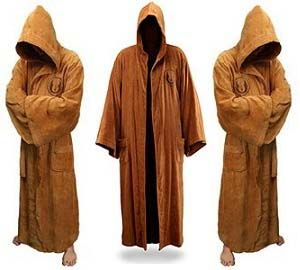 jedi bathrobe - My husband bought me this...very cuddly..hood is nice...we will see how long it holds up. last robe lingered 19 years.
