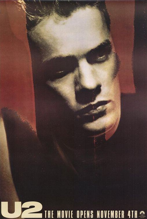 U2: Rattle and Hum Movie Poster - Larry Mullen Jr