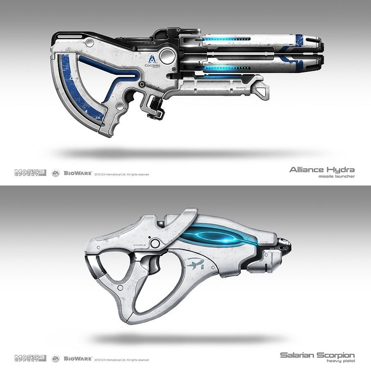 Weapon Concepts – Mass Effect 3    Brian Sum   (Videogame-art.2012)