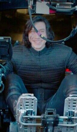 His smile is so special❤ I love him! Adam Driver BTS The Last Jedi