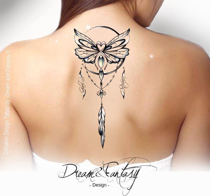 Tattoo Design – Butterfly – cancer – Dreamcatcher – Dreamcatcher