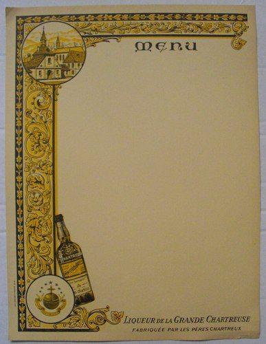 LIQUEUR de la GRANDE CHARTREUSE Fabriquée par les Pères Chartreux IMP. J. BRUYERE - ST. ETIENNE G3.37