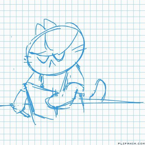 kitty job interview by concavebutt #gif #anim #animation #flipanim #flipbook #drawing #draw