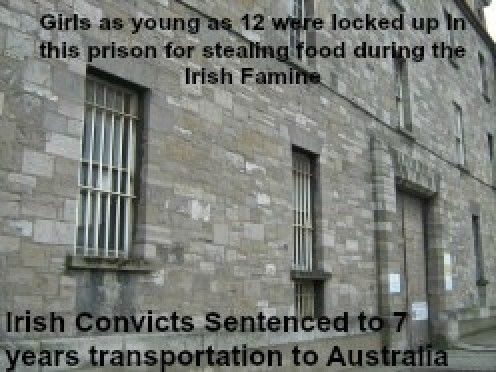 Irish Girls as young as 12 years old were locked up in prison and transported to Australia as convicts