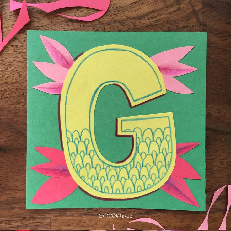 Letter G!. This is part of a paper art type I'm making for 36 days of type and also part of my 100 days project about paper art! :)