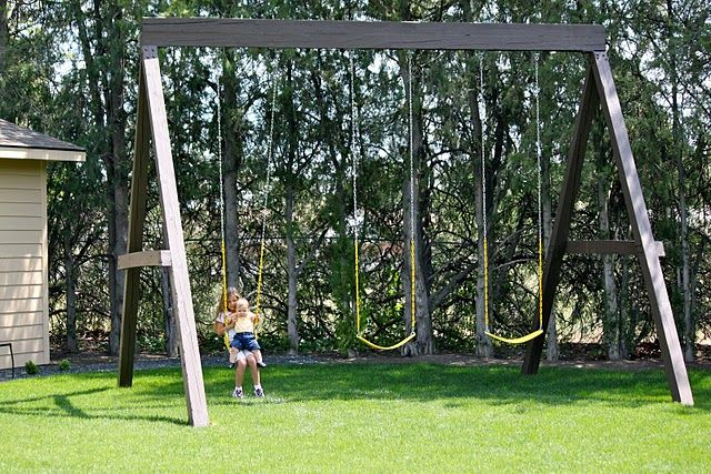 Tall Swing Set Outside Projects Pinterest Swings And