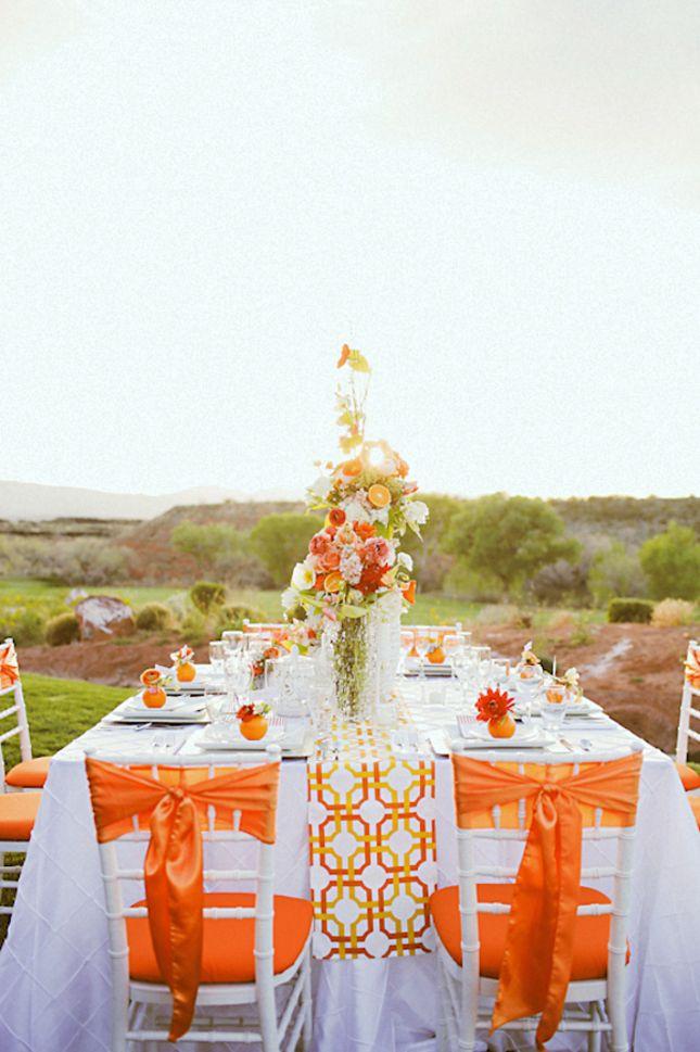 98 best orange weddings images on pinterest orange weddings gorgeous tangerine tango wedding inspiration junglespirit Choice Image