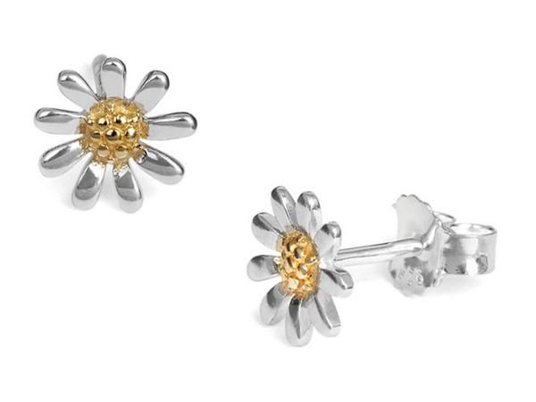 Silver Earrings - Daisy Chain Studs - Small