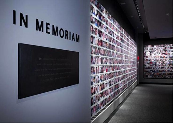 THE  MEMORIUM WALL OF THE PEOPLE MURDERED ON 911 AT THE WTC  IN  THE 911 WTC MUSEUM