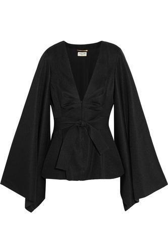 Satin-jacquard kimono top #kimonotop #women #covetme #saintlaurent