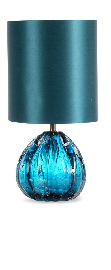 Table Lamps, Luxury Designer Turquoise Blue Art Glass & Silk Lamp, so beautiful, inspire your friends and followers interested in luxury interior design, with new trending accents from Hollywood courtesy of InStyle Decor Beverly Hills, Luxury Designer Furniture, Lighting, Mirrors, Home Decor  & happy pinning- LadyLuxury