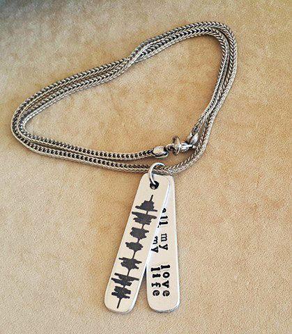 Men's Chain Necklace Soundwave Necklace Chain by DenizKumu on Etsy