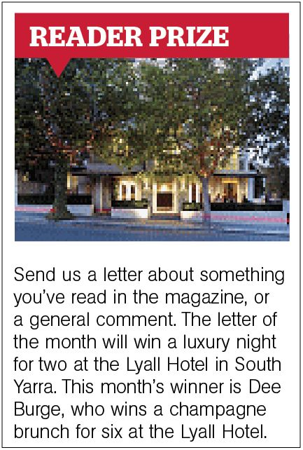 Sadly, our November issue will be our farewell. LAST CHANCE to tell us what you think of the magazine and WIN! Email letters by Thursday 3 October to mm@theage.com.au