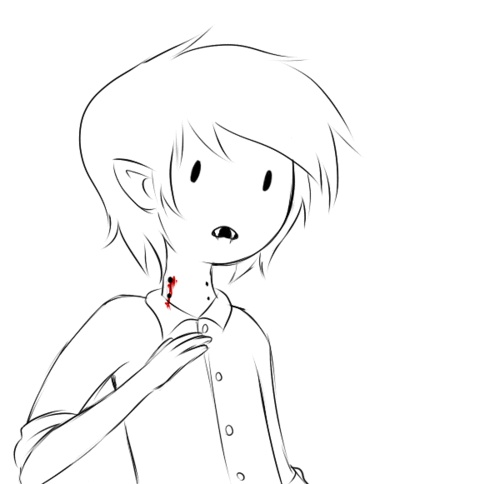 marshall lee OW that hurt (im guessing that's what hes saying)