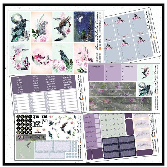 Valkyries weekly kit for Happy Planner Big HP EC and EC
