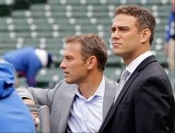 Theo Epstein, at right with Cubs general manager Jed Hoyer in April, believes the team's plan eventually will deliver what Cubs fans want.