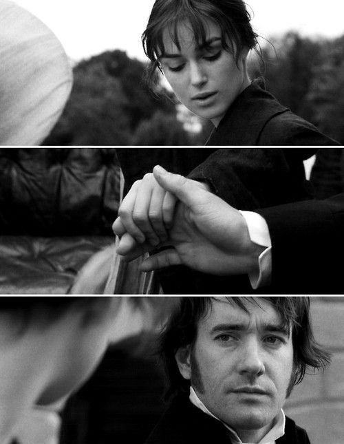 ah, the infamous touch. Pride and Prejudice. Another amazing romance movie.