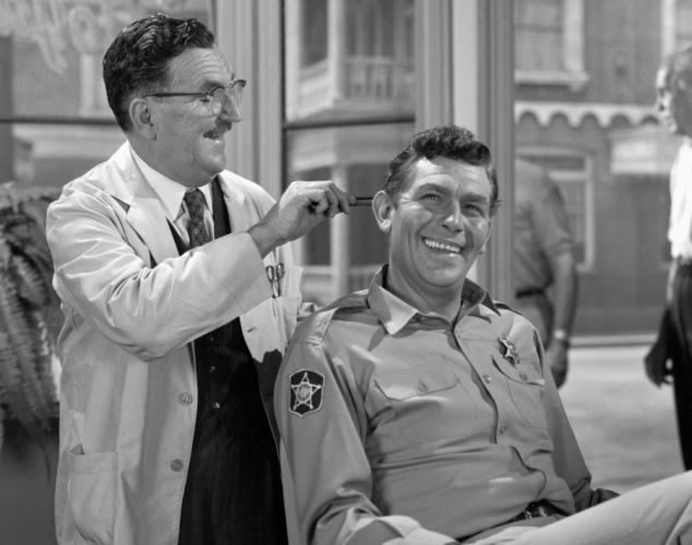 Howard McNear and Andy Griffith on 'The Andy Griffith Show.' #TAGS #MountAiry