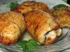 Domowe ciasta i obiady: Rumiane roladki z piersi kurczaka