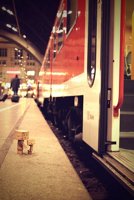 Danbo...good bye' P.S. Please DoN't fall into the tracks that makes me petrified