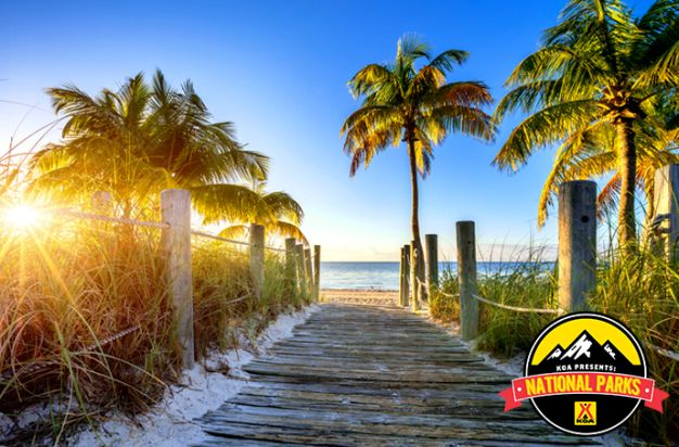 Take a tropical road trip down the coast of Florida and explore white sand beaches, the Everglades and Key West. #FindYourPark with KOA!
