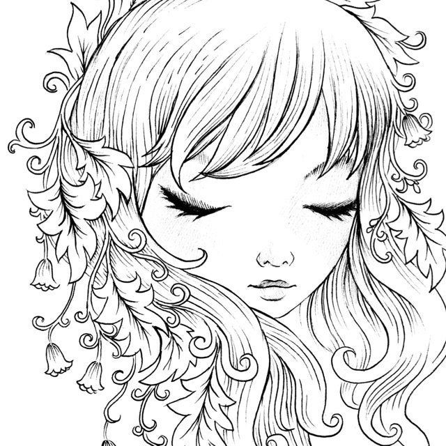 Lovely Witch Coloring Page Instant Download In 2020 Coloring