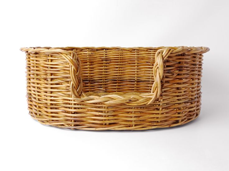 Oval Rattan Dog Baskets - Natural from Charley Chau - Luxury Dog Beds