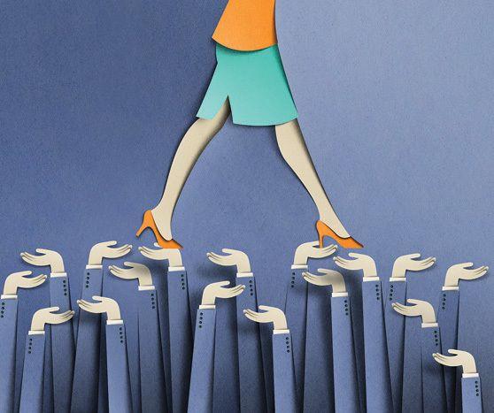 Editorial illustrations by Eiko Ojala, via Behance