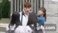 """Watch and create more animated gifs like [SCHOOL 2017] """"She's my girlfriend!!!!!!!!!!"""" - Tae Woon at gifs.com"""