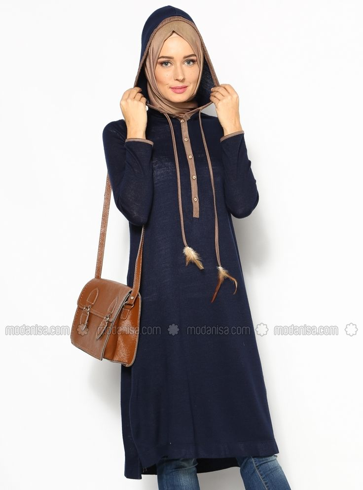 Hooded Tunic - Navy Blue - Allday