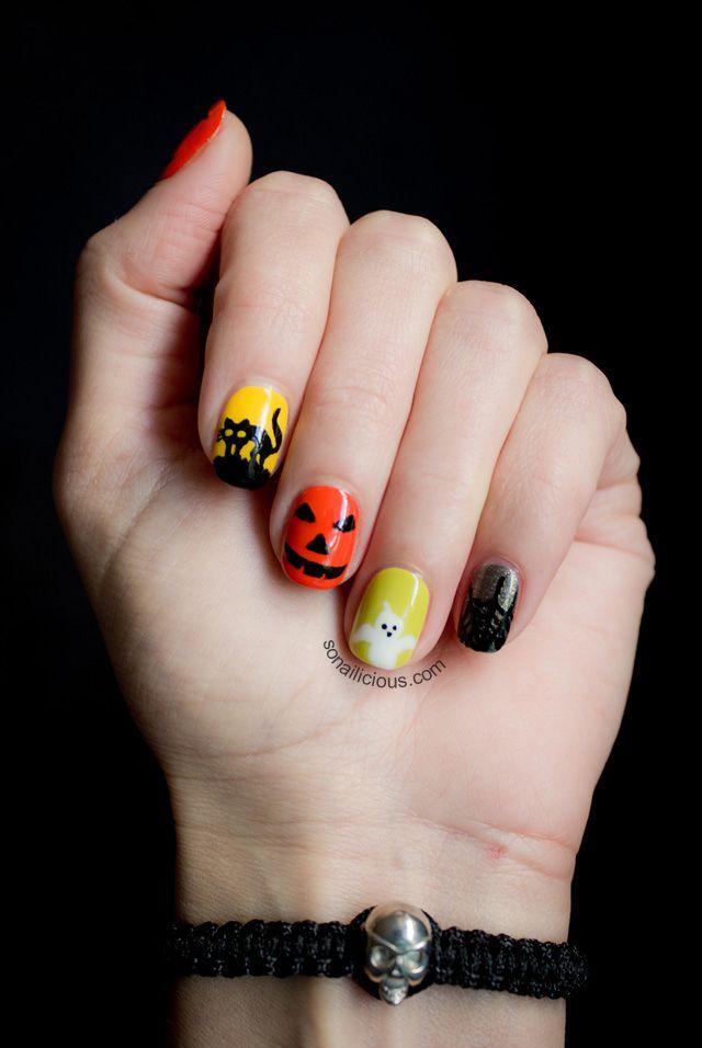 Cute Halloween Nails | hands beauty | Pinterest