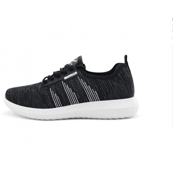 7928dcd15d2 Black and White Lace up Casual Sports Shoes Hui Li Sneaker | STYLISH ...