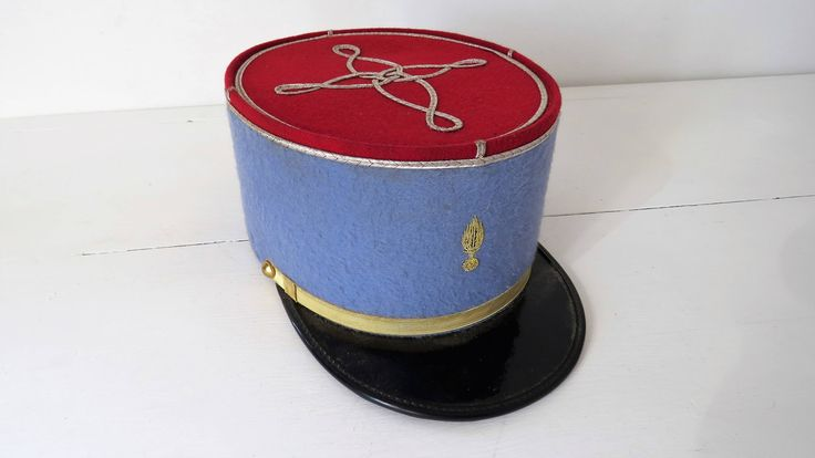 Vintage French,  Army Officers, Kepi Hat by PoitouBrocante on Etsy