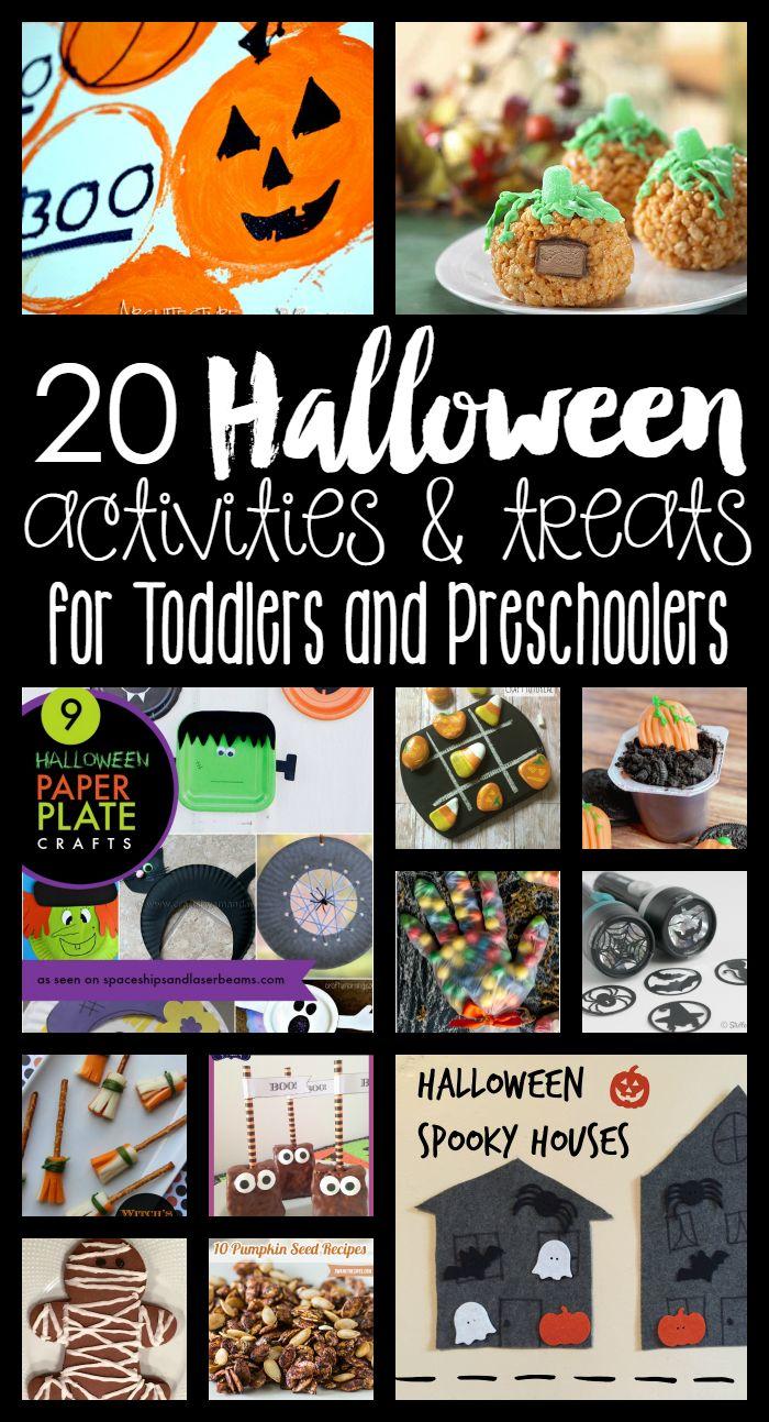 20 Halloween Activities & Treats for Toddlers and Preschoolers!