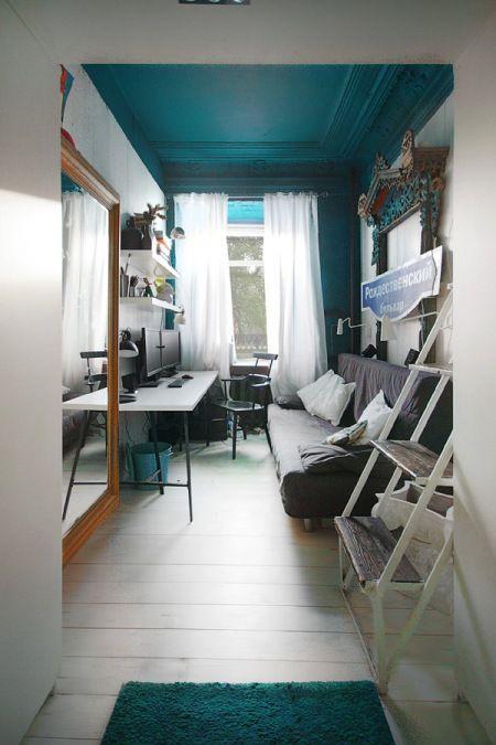 jak urządzić z fantazją mały i wąski pokój w biało-turkusowym kolorze ? - Lovingit.pl