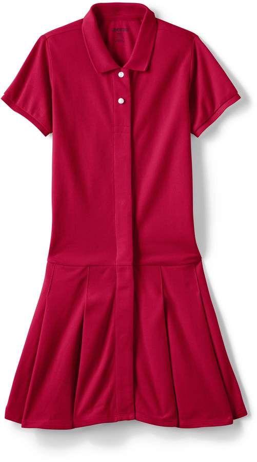 6a7aa43b446c Lands'end School Uniform Little Girls Adaptive Mesh Polo Dress #Mesh #favorite#comfortable