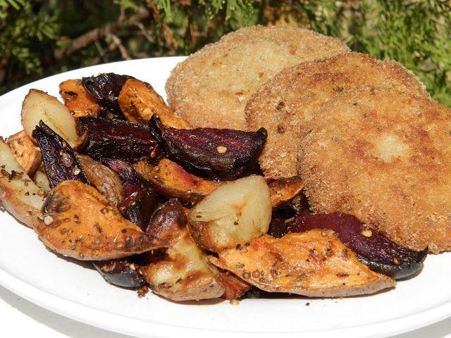 hogymegtudjuknézni: Ünnepi rántott csirke és tökfasírt, sült zöldségekkel
