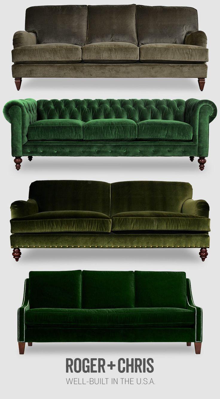 Green / velvets / furniture / Roger+Chris
