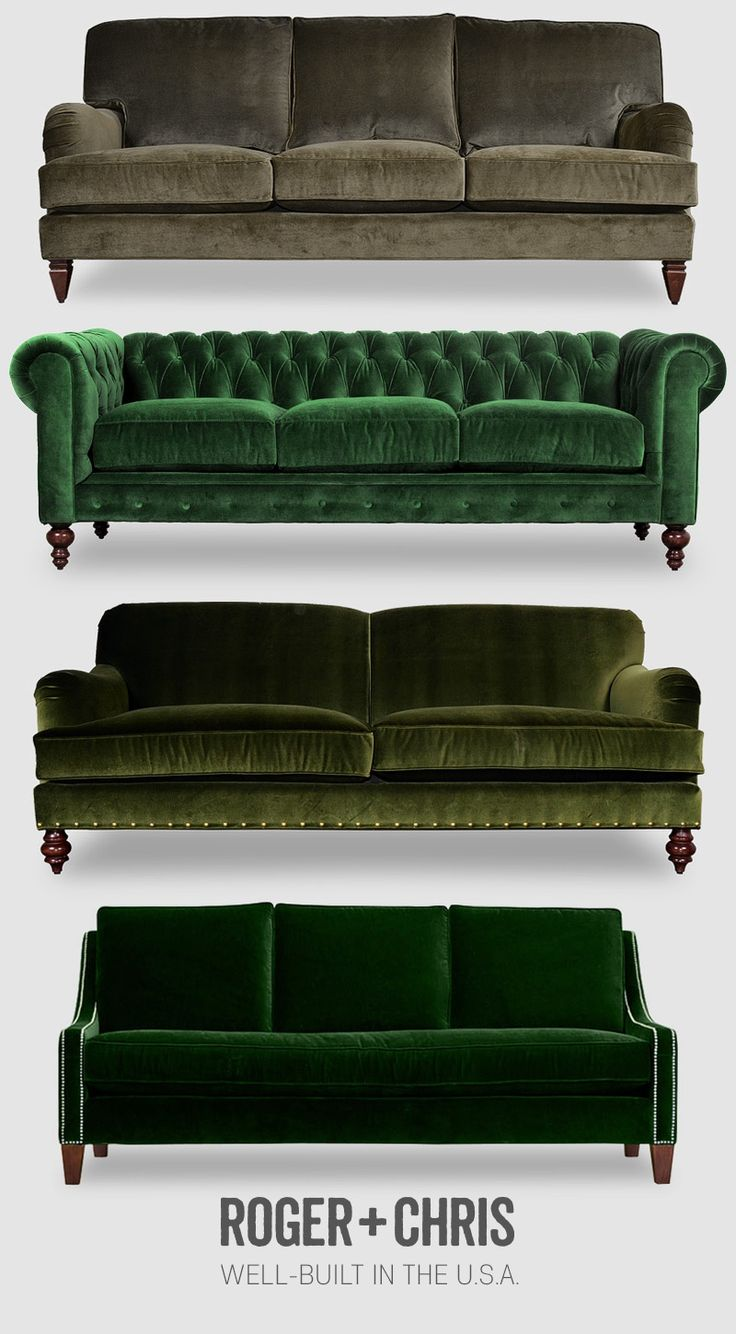 Green / velvets / furniture / Roger+Chris
