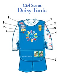 Insignia Placement Daisy Tunic #girlscouts