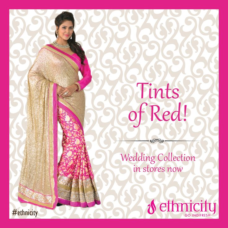 If not red, then its tints can do wonders for the bride on the wedding day. How do you like it? #ethnicity