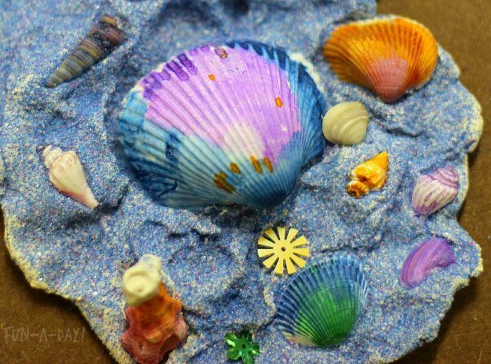 Summer Art / Kids Seashell Crafts