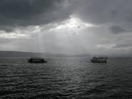 Beautiful Sea of Galilee. I took a trip across the Sea where Jesus calmed the storm. I was in awe.