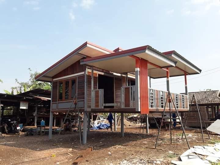 ไอเด ย บ านไม โครงสร างเหล ก ยกพ นส ง ขนาดกะท ดร ด Thai Let S Go บ านโมเด ร น บ าน บ านในฝ น
